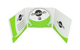 CD-Digipack 6-seitig, 1 Tray mitte mit Bookletschlitz links