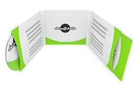 CD-Digisleeve 6-seitig für 1 CD/DVD links und Booklet rechts