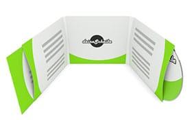 CD-Digisleeve 6-seitig für 1 CD/DVD rechts und Booklet links