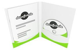 DVD-Digifile 4-seitig für 1 CD/DVD rechts mit Bookletschlitz links